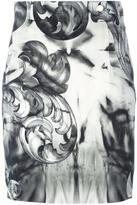 Versace printed mini pencil skirt