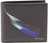 Paul Smith Feather-print bi-fold leather wallet