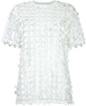 Carven Lace Detail Blouse