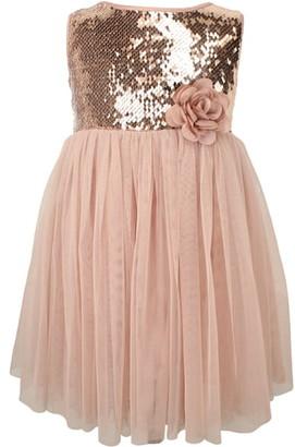 Popatu Sequin Sleeveless Tulle Dress