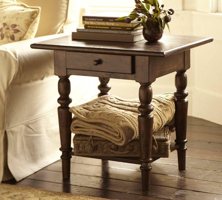 Pottery Barn Tivoli Side Table - Tuscan Chestnut stain