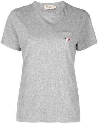MAISON KITSUNÉ Logo-Embroidered Cotton T-Shirt