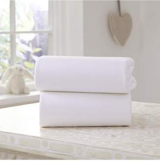Ladybird Pack of 2 Flat Jersey Sheets - Cot/Cot Bed