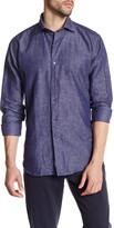 Peter Millar Chambray Paisley Print Regular Fit Shirt