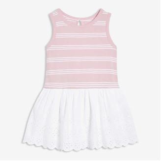 Joe Fresh Baby Girls' Drop Waist Eyelet Dress, Pale Purple (Size 6-12)