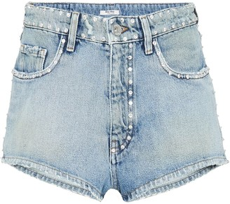 Miu Miu Embellished Denim Shorts
