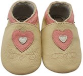 Sayoyo Baby Cute Hearts Soft Sole Leather Baby Shoes Baby Moccasins(12-18 Months)