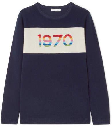 Bella Freud 1970 Metallic Cashmere Sweater - Navy