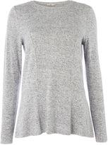 Tu clothing Grey Long Sleeve Cut And Sew Tee