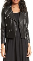 Rebecca Minkoff Women's Wes Moto Leather & Neoprene Jacket