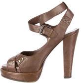 Bottega Veneta Peep-Toe Platform Sandals