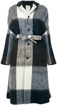 Stephan Schneider belted checked coat