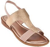 Me Too As Is Metallic T-strap Sandals with Goring - Zoey