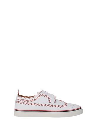 Thom Browne White Baseball Stitch Sneakers