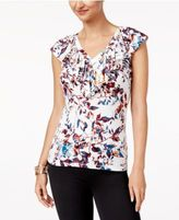 Thalia Sodi Ruffled V-Neck Top, Created for Macy's