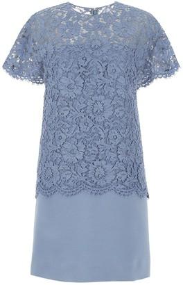 Valentino Lace Overlay Shift Dress