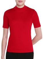 Allison Daley Red Revival Mock Neck Pullover