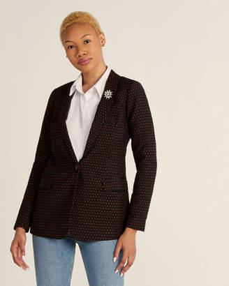 Scotch & Soda Star Pattern Shawl Collar Tailored Blazer