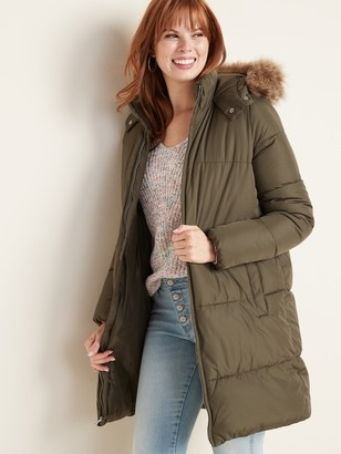Old Navy Hooded Frost-Free Long-Line Puffer Jacket for Women