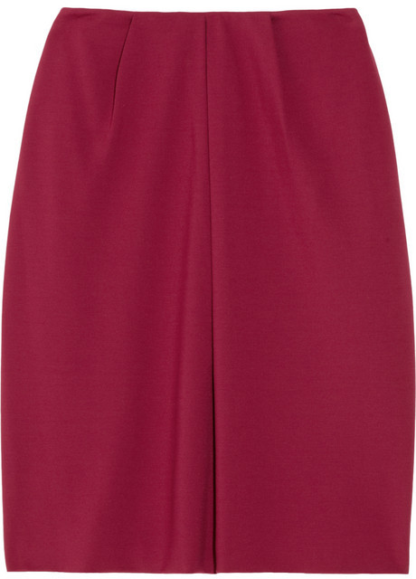 Calvin Klein Collection Flag pleated jersey skirt