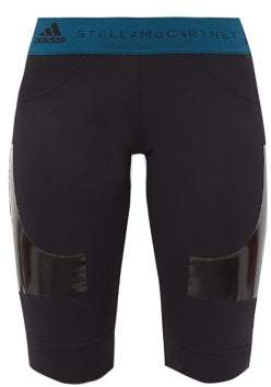 adidas by Stella McCartney Logo-jacquard Hybrid Shorts - Womens - Black