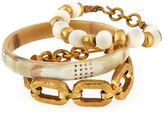 Ashley Pittman Three-Piece Bangle/Bracelet Set