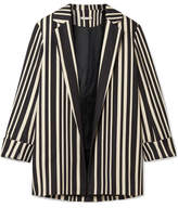 Alice + Olivia Alice Olivia - Neta Striped Cotton-blend Blazer - Black