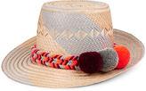 Yosuzi Grey & Orange Maïa Straw Hat