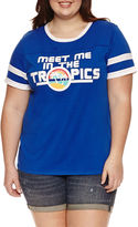 Arizona Meet Me in the Tropics Graphic T-Shirt- Juniors Plus