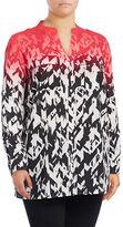 Calvin Klein Plus Ombre Print Shirt