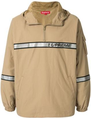 Supreme Reflective Taping Hooded Pullover windbreaker