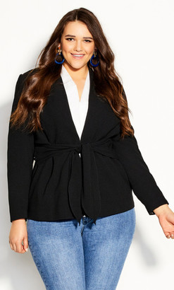 City Chic Elegance Jacket - black