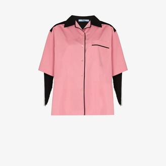 Prada Fringed-Detail Short-Sleeve Shirt