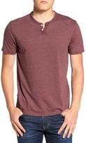 Lucky Brand Men's Burnout Notch Neck T-Shirt