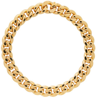 Bottega Veneta Gold Curb Chain Necklace