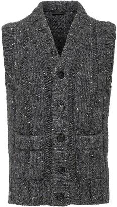 Prada V-neck tweed knitted vest