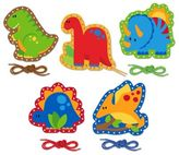 Stephen Joseph Dinosaur Lacing Cards (Set of 5)
