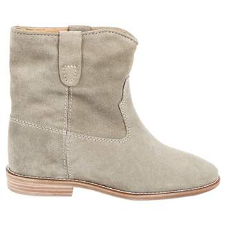 Isabel Marant Crisi Grey Leather Ankle boots