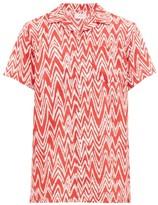 Onia - Vacation Ikat Zig Zag Print Shirt - Mens - Red