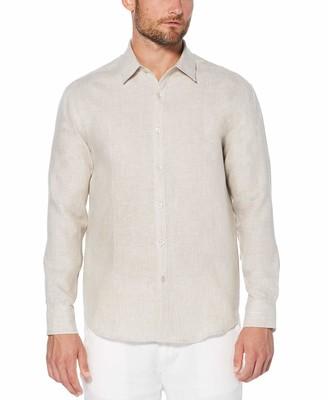 Cubavera Men's Long Sleeve Essential Linen Shirt