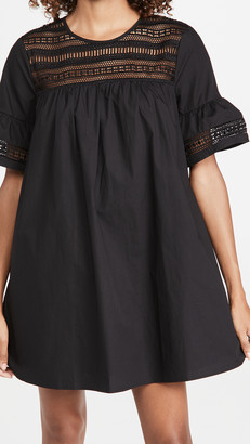ENGLISH FACTORY Lace Trim Dress