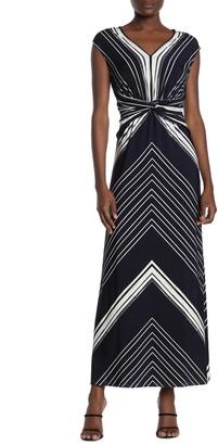 London Times Twisted Sleeveless Maxi Dress