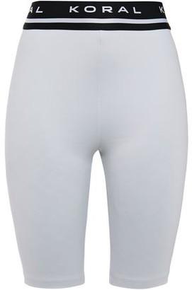 Koral Streamline Hr Jacquard-trimmed Scuba Shorts