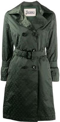 Herno Monogram Sateen Trench Coat