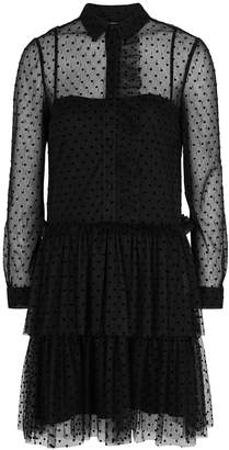 RED Valentino Black Polka-dot Tulle Dress