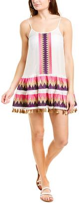 Taj By Sabrina Crippa Tassel Silk Mini Dress