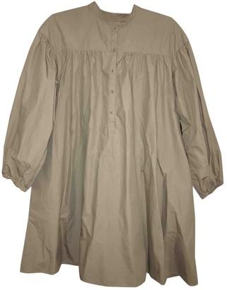 Uniqlo Beige Cotton Dress for Women