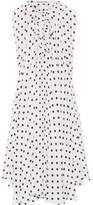 Balenciaga Asymmetric Polka-dot Silk Crepe De Chine Top - White