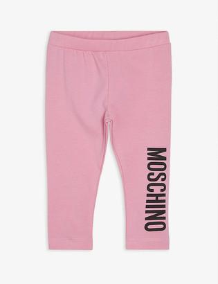 Moschino Logo-print cotton-blend leggings 3-36 months