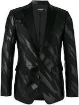DSQUARED2 striped tuxedo jacket - men - Silk/Cotton/Polyester - 46